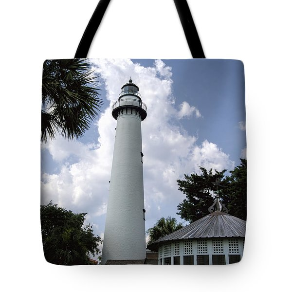St. Simon's Island Georgia Lighthouse Tote Bag