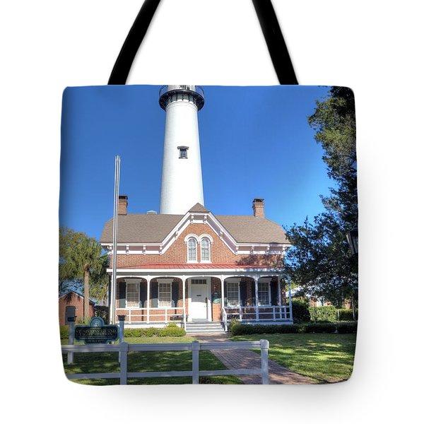 St. Simons Island Light Station Tote Bag