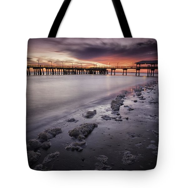 St. Simons Pier At Sunset Tote Bag