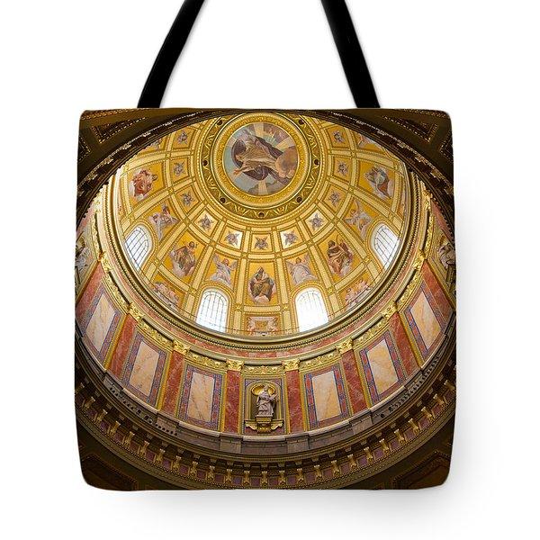 St. Stephen's Basilica Ceiling Tote Bag