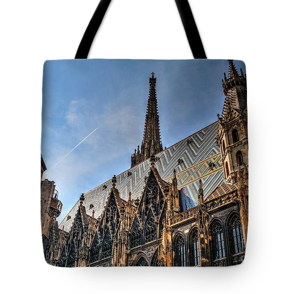 Tote Bag featuring the photograph St. Stephen's Cathedral by Joe  Ng