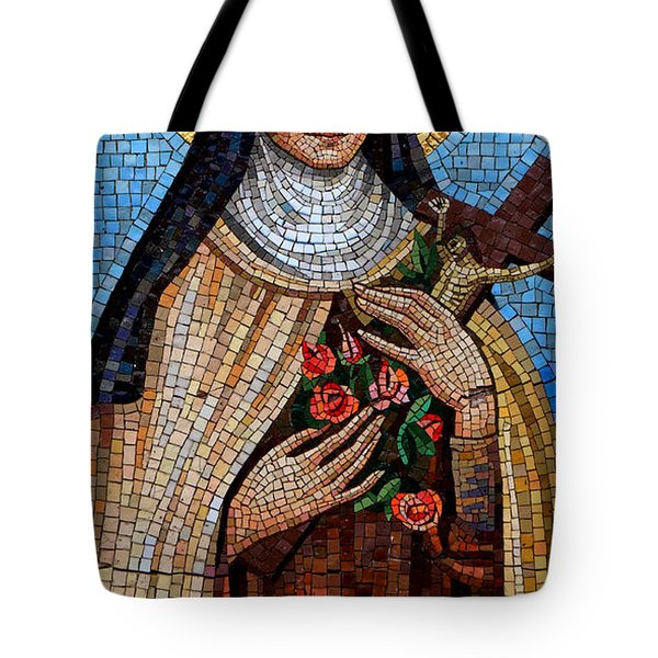 St. Theresa Mosaic Tote Bag