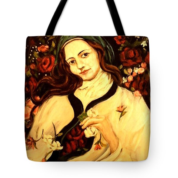 St. Therese Tote Bag by Carrie Joy Byrnes