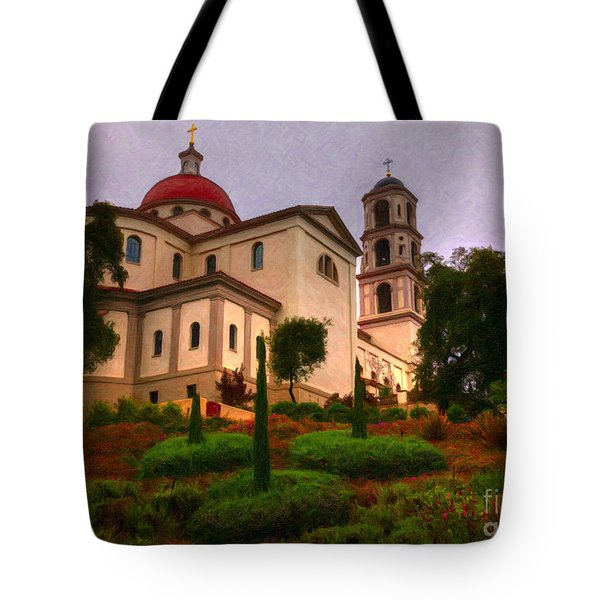 St. Thomas Aquinas Church Large Canvas Art, Canvas Print, Large Art, Large Wall Decor, Home Decor Tote Bag by David Millenheft