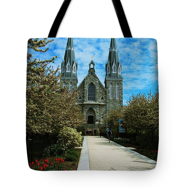 St Thomas Of Villanova Tote Bag by William Norton