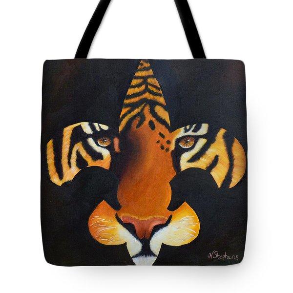 St. Tiger Tote Bag by Nina Stephens
