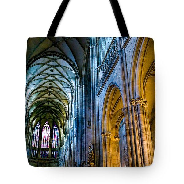 St Vitus Cathedral Tote Bag by Dave Bowman