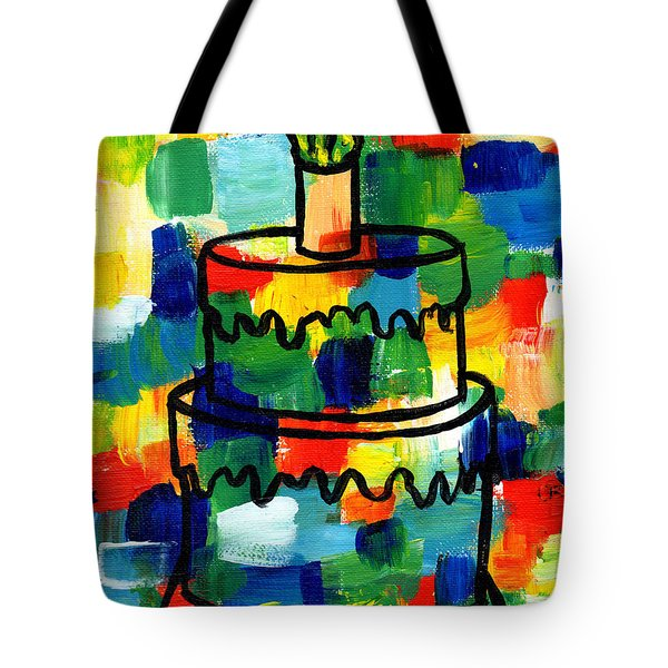 Stl250 Birthday Cake Abstract Tote Bag