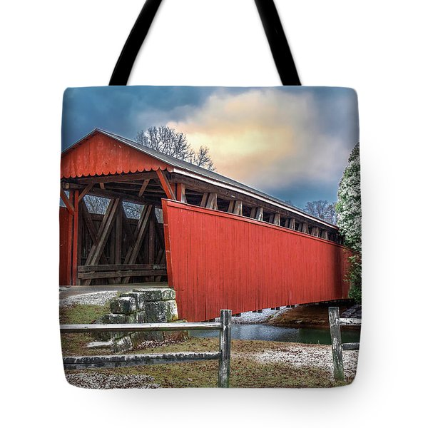 Staats Mill Covered Bridge Tote Bag