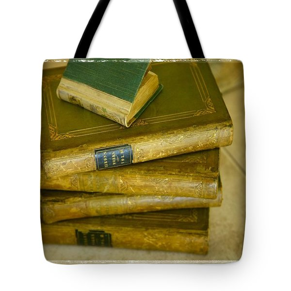 Stack Of Antique Books Tote Bag by Don Hammond