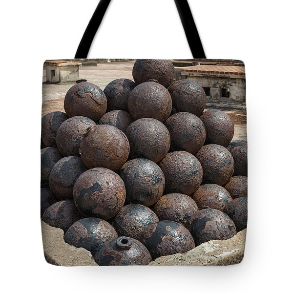 Stack Of Cannon Balls At Castillo San Felipe Del Morro Tote Bag