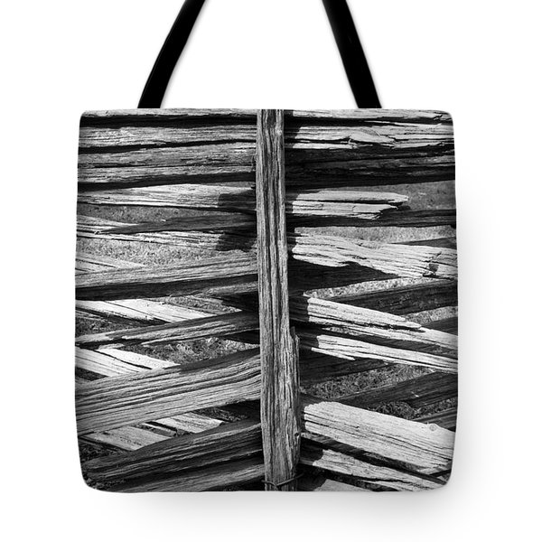 Stacked Fence Tote Bag by Lynn Palmer