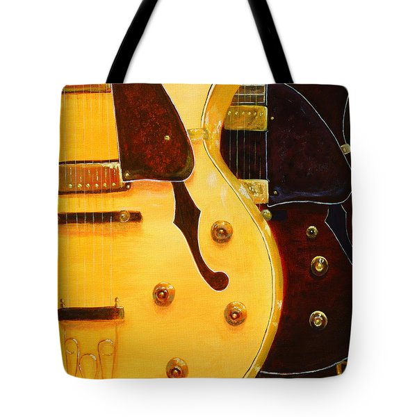 Stacked Guitars Tote Bag