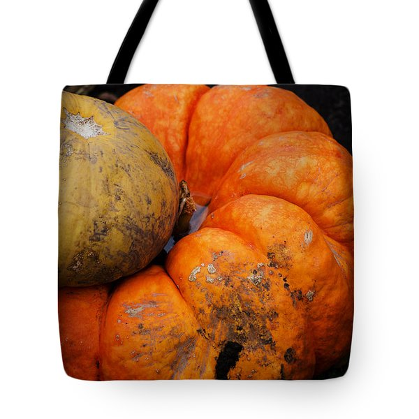 Stacked Pumpkins Tote Bag
