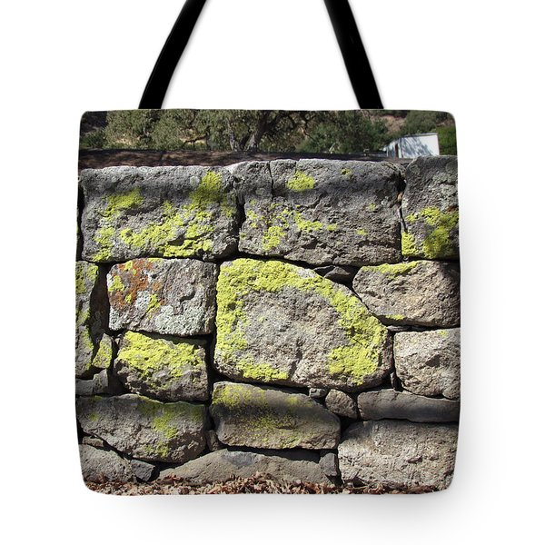 Stacked Stone Wall Tote Bag