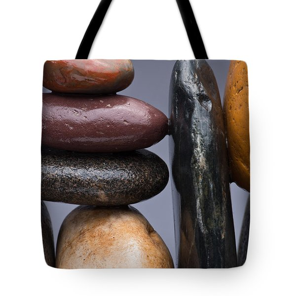 Stacked Stones 2 Tote Bag by Steve Gadomski