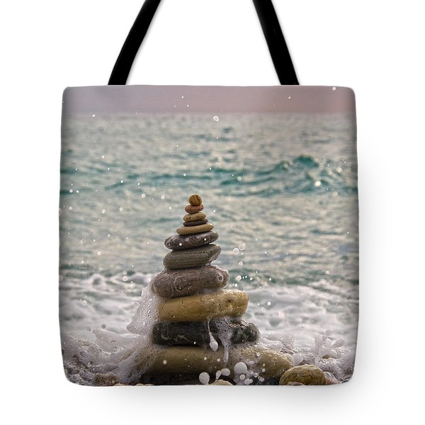 Stacking Stones Tote Bag by Stelios Kleanthous