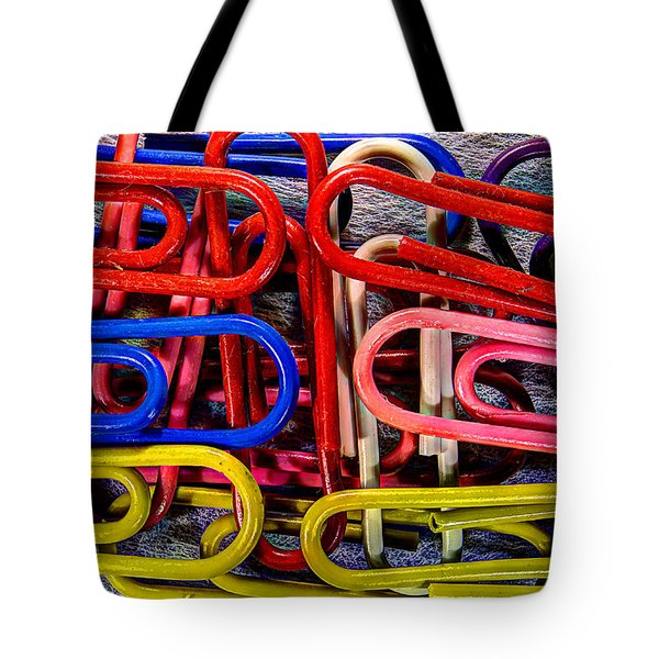 Stacks Of Clips Tote Bag