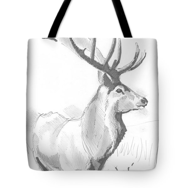 Stag Drawing Tote Bag