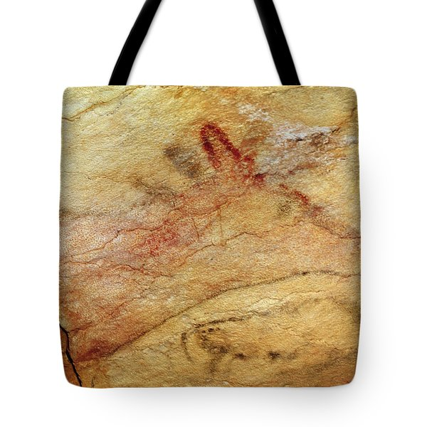 Stag From The Caves Of Altamira  Cave Painting  Tote Bag