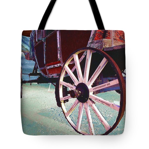 Stage Coach 1 Tote Bag by Kae Cheatham