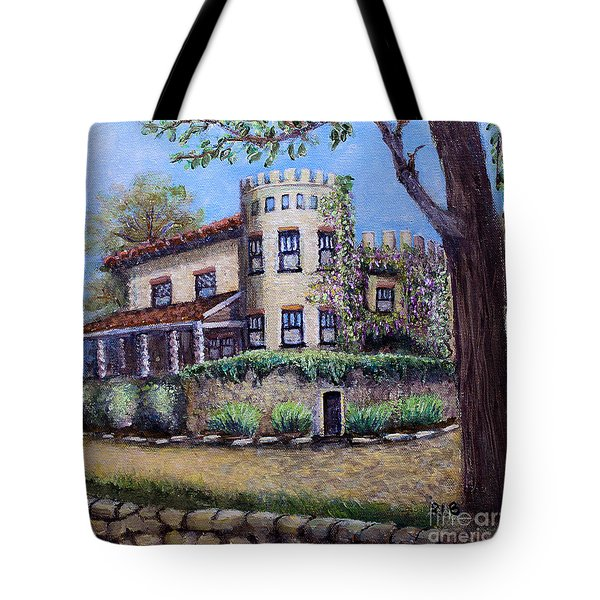 Tote Bag featuring the painting Stags' Leap Manor House by Rita Brown