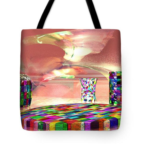 Stained Dinnerware Tote Bag