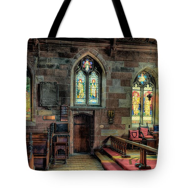 Stained Glass Tote Bag by Adrian Evans