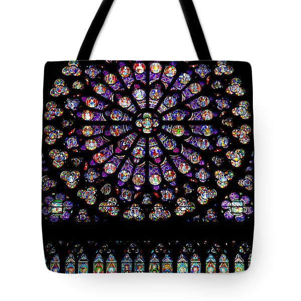 Stained Glass At Notre Dame Tote Bag