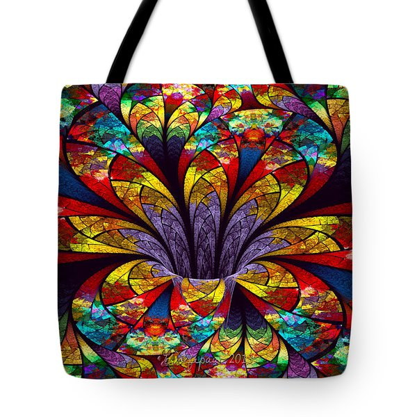 Stained Glass Bloom Tote Bag