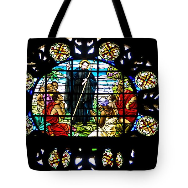 Stained Glass - Church Of St Peter Claver - Cartagena Columbia Tote Bag