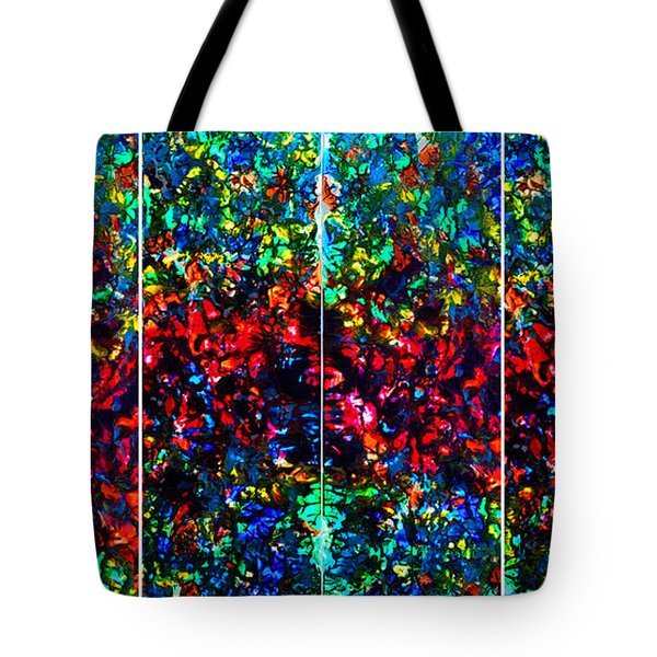 Stained Glass Collage Tote Bag by Nancy Mueller