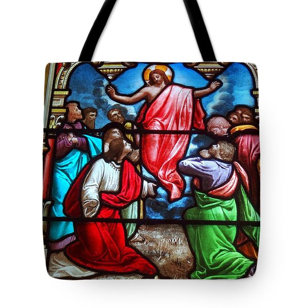 Tote Bag featuring the photograph Stained Glass by Ed Weidman