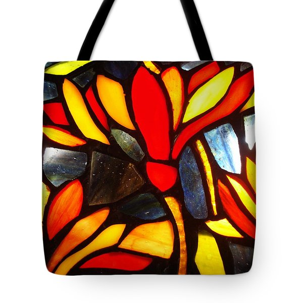 Stained Glass Eight Tote Bag