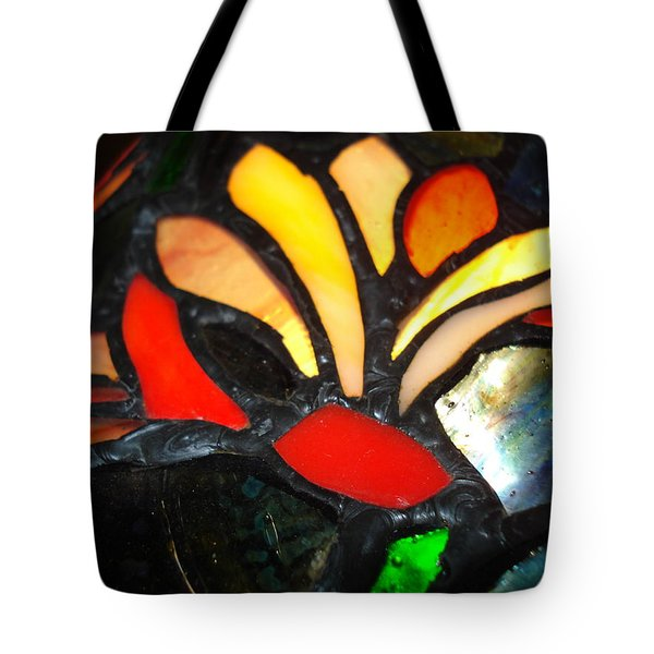 Stained Glass Five Tote Bag