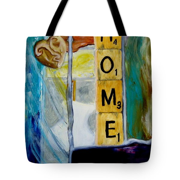 Stained Glass Home Tote Bag