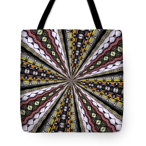 Tote Bag featuring the photograph Stained Glass Kaleidoscope 1 by Rose Santuci-Sofranko