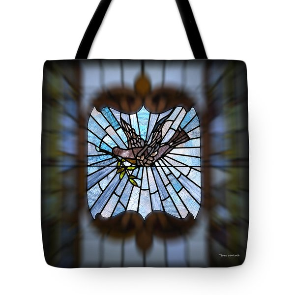 Stained Glass Lc 13 Tote Bag by Thomas Woolworth