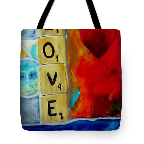 Stained Glass Love Tote Bag