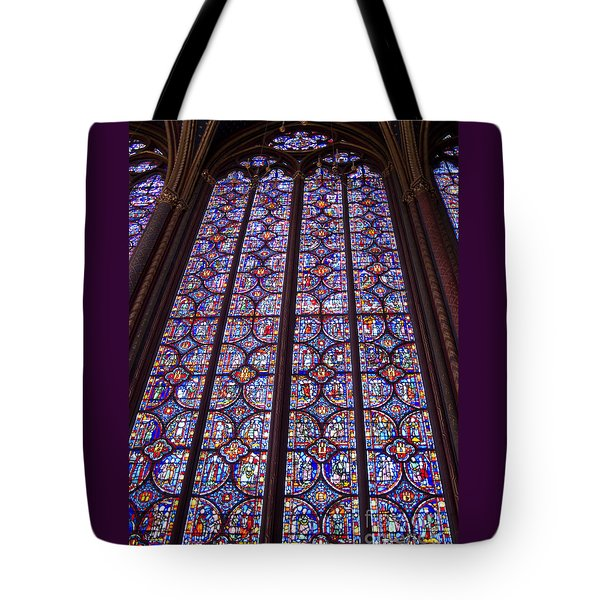 Stained Glass Magnificence Tote Bag by Ann Horn