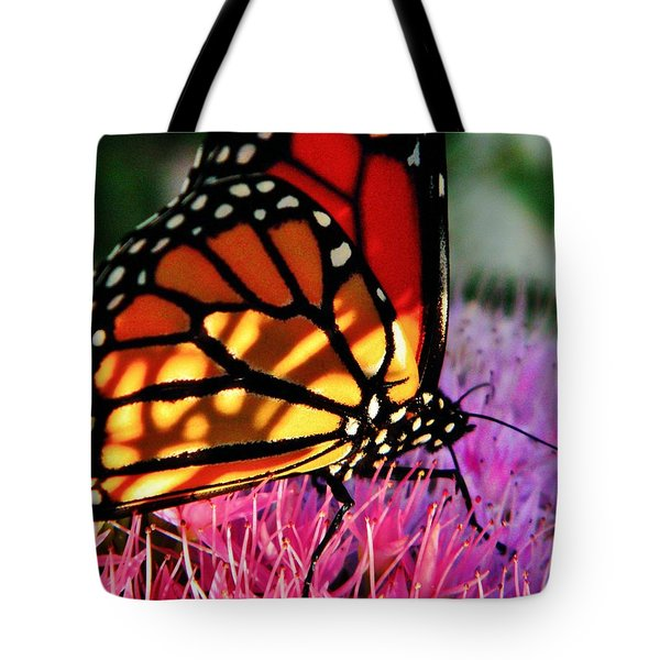 Stained Glass Monarch  Tote Bag