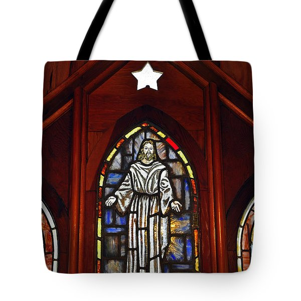 Stained Glass Saviour Tote Bag by Al Powell Photography USA