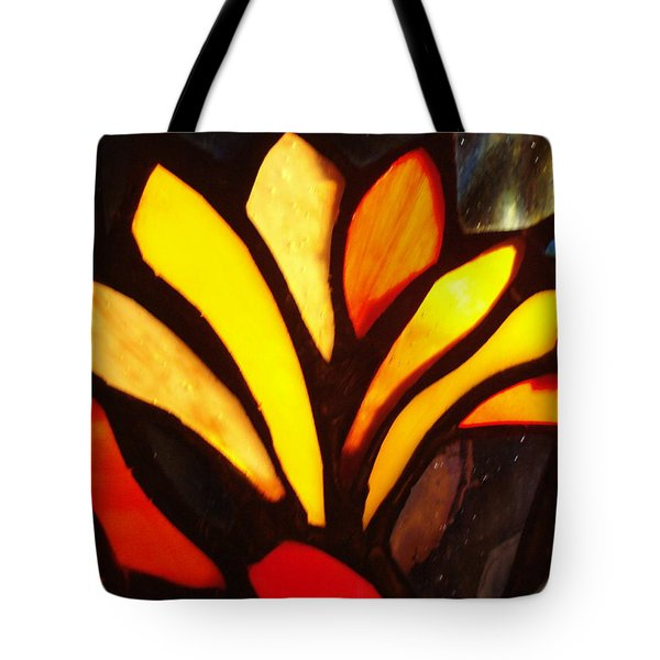 Stained Glass Six Tote Bag