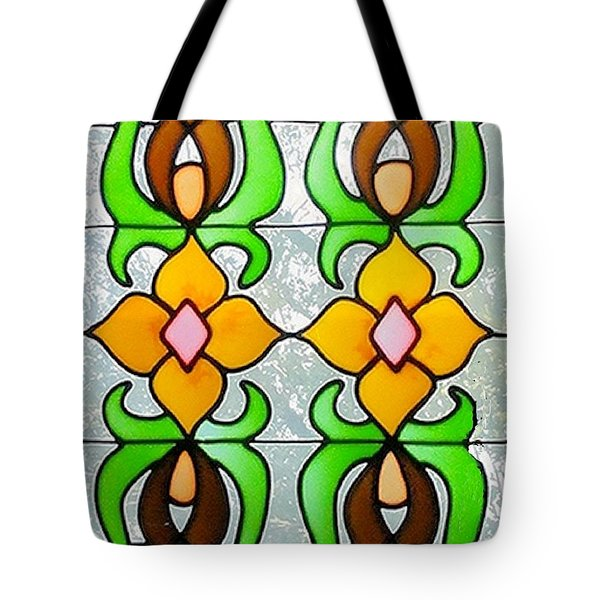 Tote Bag featuring the photograph Stained Glass Window by Janette Boyd