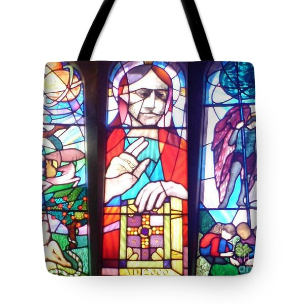 Stained Glass Window Tote Bag by John Williams