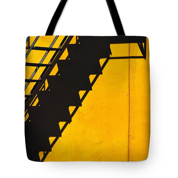 Tote Bag featuring the photograph Staircase Shadow by Silvia Ganora