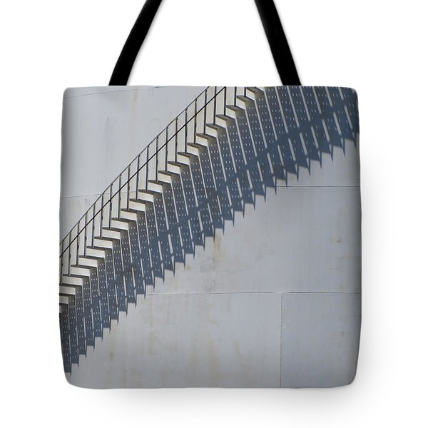 Stairs And Shadows 3 Tote Bag by Anita Burgermeister