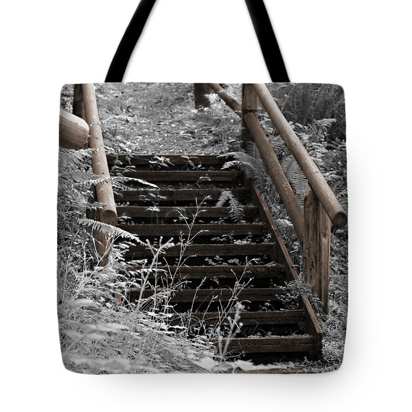 Stairway Home Tote Bag by Jeanette C Landstrom