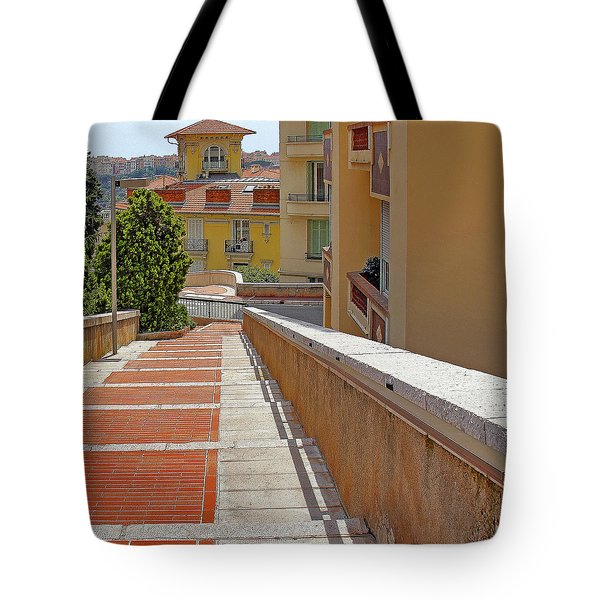 Stairway In Monaco French Riviera Tote Bag