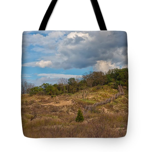 Stairway Of The Dunes Tote Bag